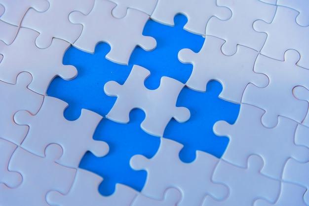 Konzept der teamwork mit puzzle Premium Fotos