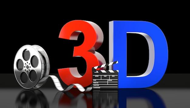 Konzept des films 3d Premium Fotos