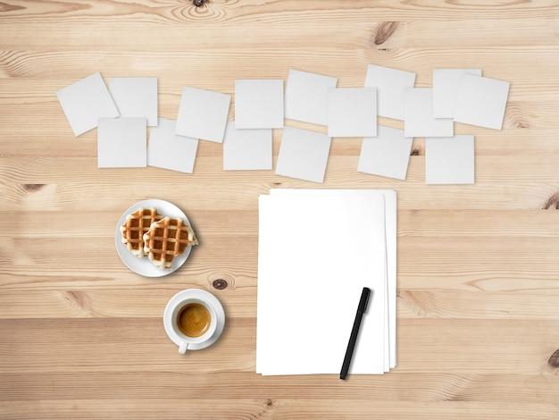 Konzept des schreibens kreativ mit vielen anmerkungen von ideen. Premium Fotos