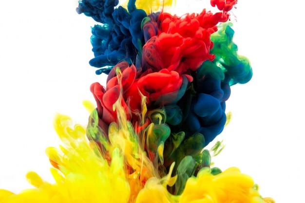Konzept-farbabstraktion der guten idee, raummakrowelt. Premium Fotos