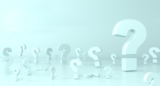 Konzept hintergrund. viele fragezeichen sind groß und klein. wissenschaft und bildung Premium Fotos
