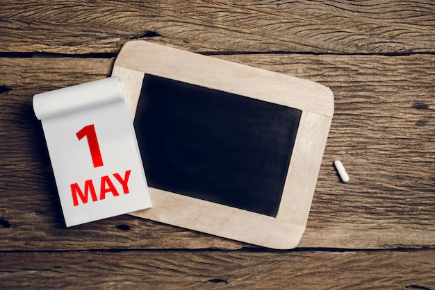 Konzept may day, 1. mai Premium Fotos