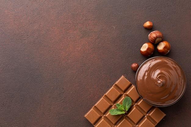 Kopieren sie platz mit köstlicher schokolade Kostenlose Fotos