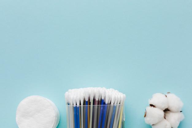 Kopierraum für körperpflegeprodukte aus baumwolle Kostenlose Fotos
