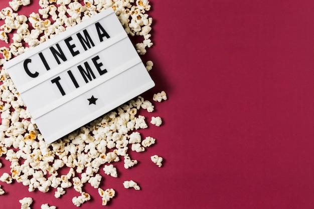 Kopierraum leuchtkasten und popcorn Kostenlose Fotos