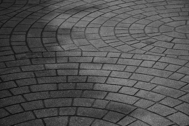 Kopierte pflastersteine, alter zementziegelsteinboden - einfarbiger hintergrund Premium Fotos