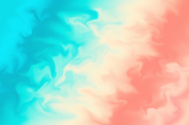 Korallenroter und blauer abstrakter hintergrund Premium Fotos