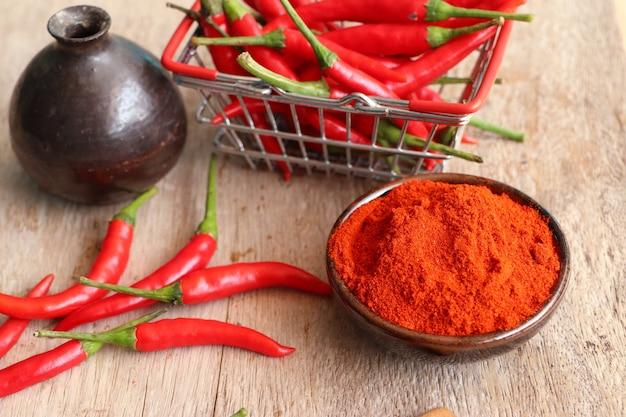 Koreanisches rotes chilipulver Premium Fotos
