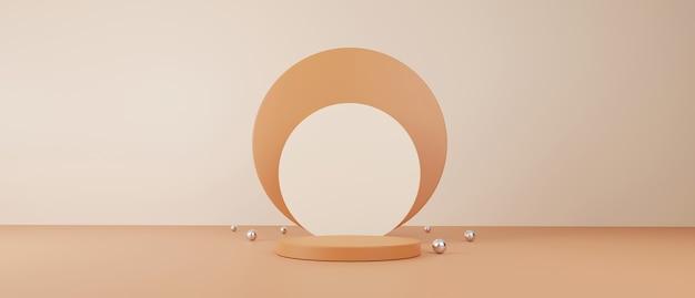 Kosmetik- und lebensmittelkonzept. minimale szene mit geometrischen formen. Premium Fotos