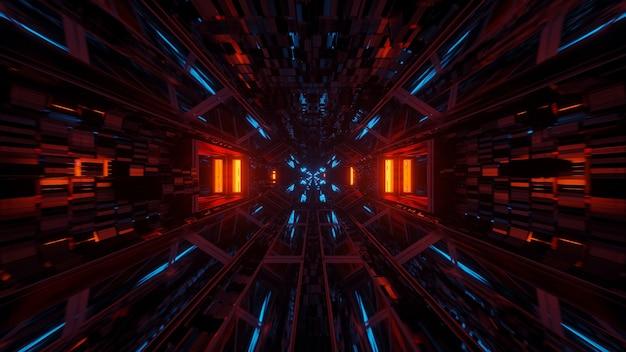 Kosmischer hintergrund mit bunten laserlichtern mit kühlen formen Kostenlose Fotos