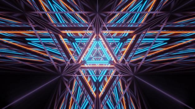 Kosmischer hintergrund mit bunten laserlichtern - perfekt für eine digitale tapete Kostenlose Fotos