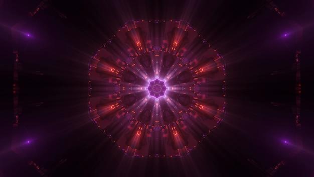 Kosmischer hintergrund mit bunten laserlichtern Kostenlose Fotos
