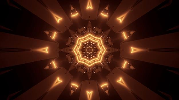Kosmischer hintergrund mit goldenen laserlichtern - perfekt für eine digitale tapete Kostenlose Fotos
