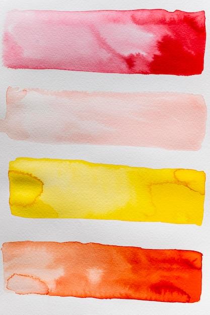 Kreative abstrakte aquarelllinien Kostenlose Fotos