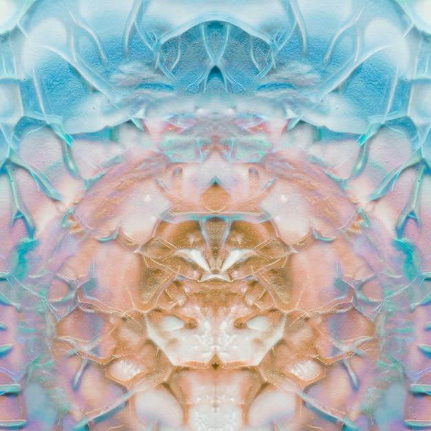 Kreative künstlerische symmetrische türkis- und brauntöne Kostenlose Fotos