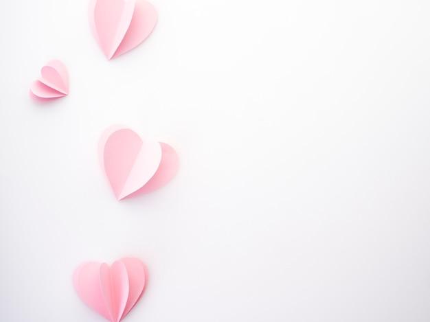 Kreative liebe rosa papierherzen Premium Fotos
