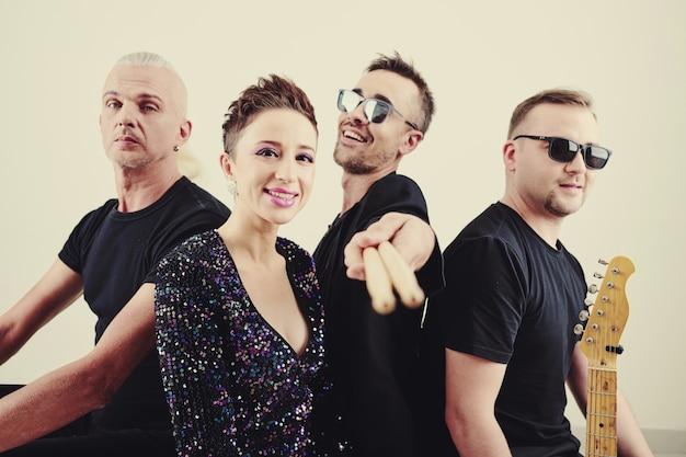Kreative popmusikband Premium Fotos