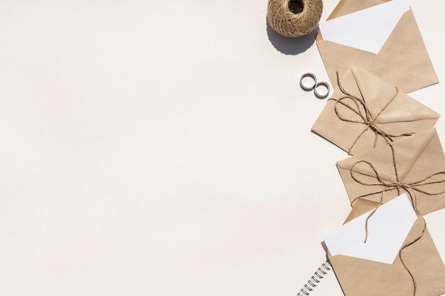 Kreative zusammensetzung für die heirat mit kopienraum Kostenlose Fotos