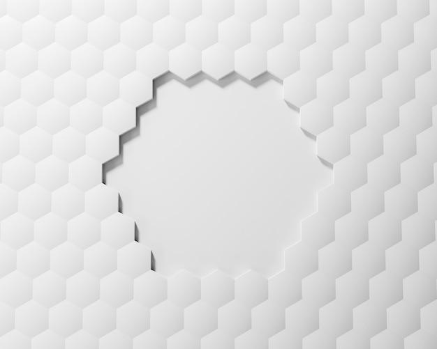 Kreativer hintergrund mit weißen formen Kostenlose Fotos