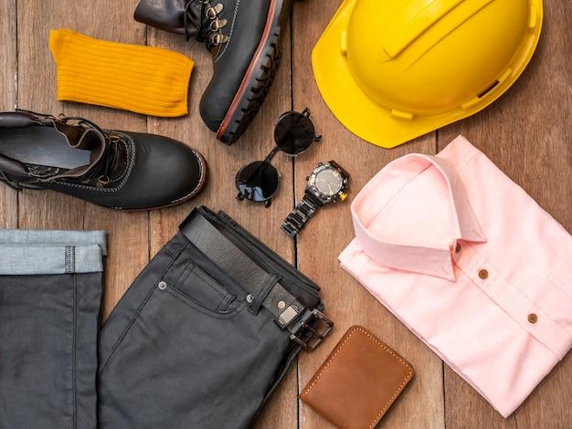 Kreatives modedesign für männer freizeitkleidung gesetzt Premium Fotos