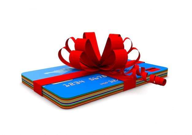 Kreditkarten mit band Premium Fotos