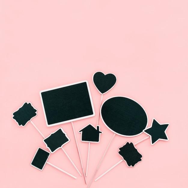 Kreidebrett frames paar objekte partyeinladung Premium Fotos