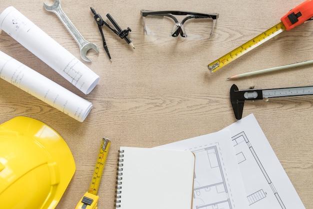 Kreis von entwürfen und konstruktionswerkzeugen Kostenlose Fotos