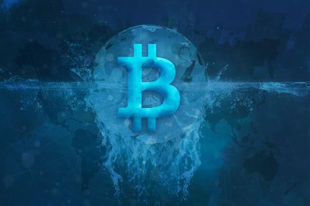 Kryptowährung bitcoin block chain foto Premium Fotos