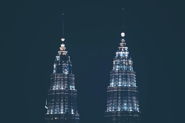 Kuala lumpur city center skyline Premium Fotos