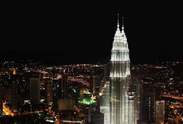 Kuala lumpur-nachtpanorama Premium Fotos