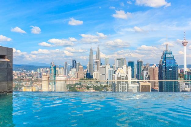 Kuala lumpur stadtbild zeigt petronas twin tower Premium Fotos