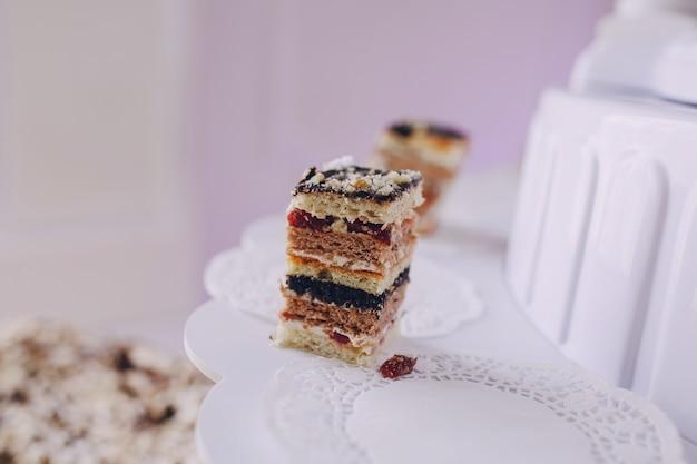 Kuchen mit vielen schichten