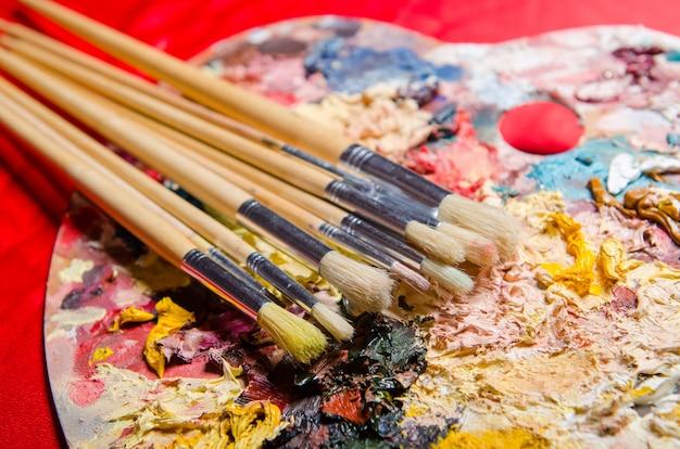 Künstler-farbpalette Premium Fotos