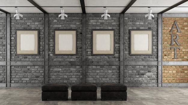 Kunstgalerie in einem loft Premium Fotos