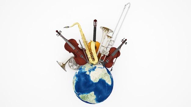 Kunstwerk musikinstrument für musikfestival Premium Fotos