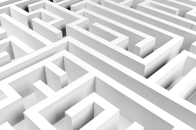 Labyrinthhintergrund, komplexes problemlösungskonzept Premium Fotos