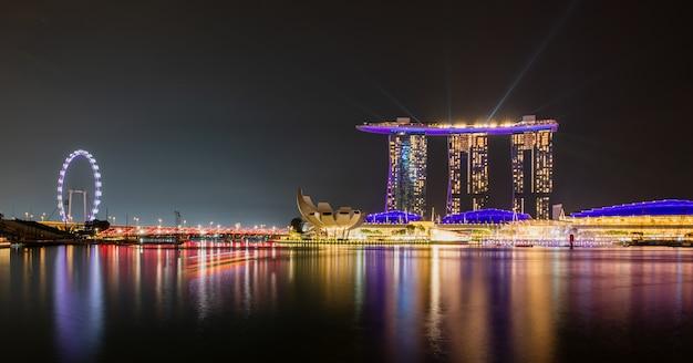 Landschaft von singapur stadt Premium Fotos