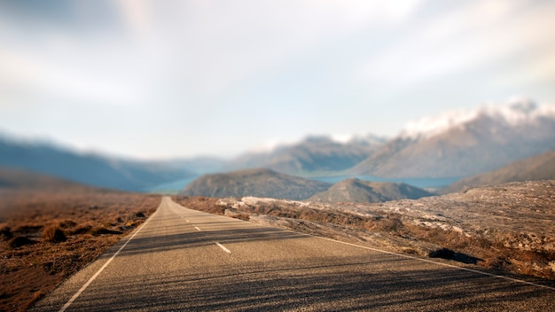 Landschaftscontry-straßen-reiseziel-ländliches konzept Kostenlose Fotos