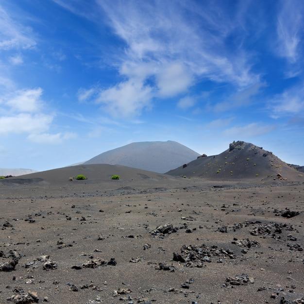 Lanzarote timanfaya fire mountains vulkanische lava Premium Fotos
