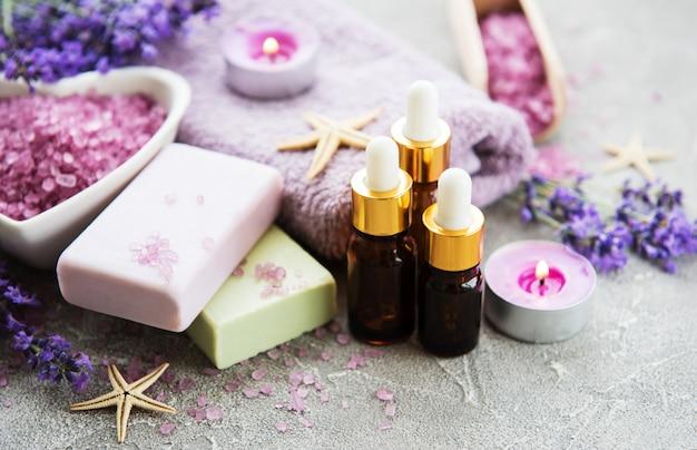 Lavendel spa-set Premium Fotos