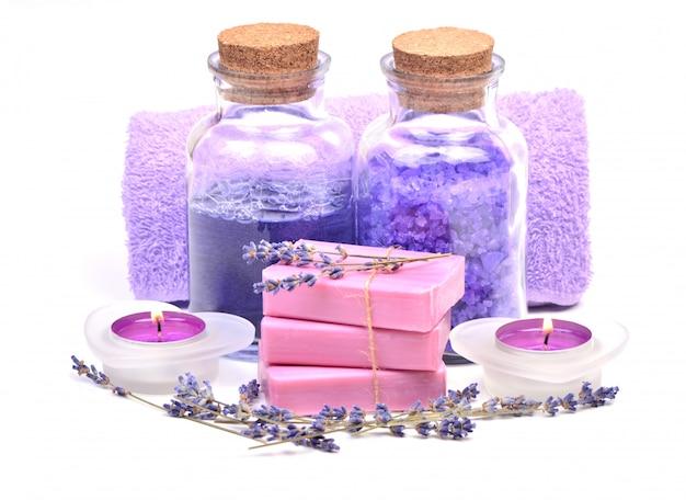 Lavendelzusammensetzung Premium Fotos