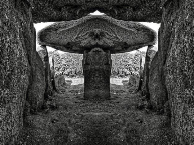 Le trepied dolmen bw hdr Kostenlose Fotos