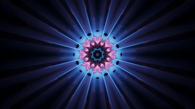 Lebendiges schönes abstraktes blumenähnliches muster für hintergrund mit blauen und rosa farben Kostenlose Fotos