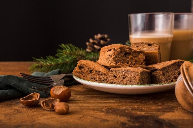 Leckere brownies mit kastanien Kostenlose Fotos
