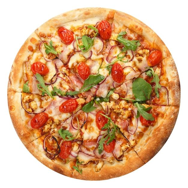Leckere klassische italienische pizza mit mozzarella Premium Fotos