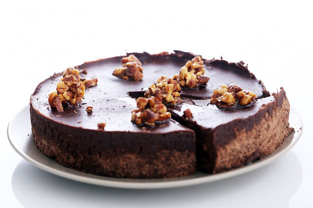 Leckere torte auf dem tisch Kostenlose Fotos