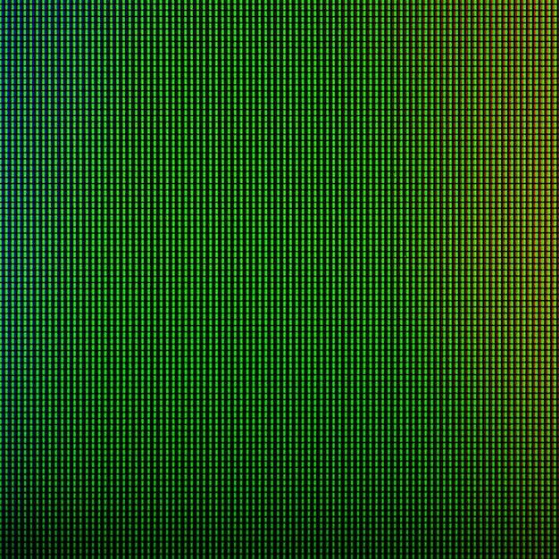 Led-leuchten von der led-bildschirmanzeige des computerbildschirms. Premium Fotos