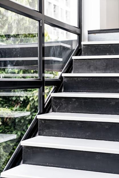 Leere architektur der treppe design Premium Fotos