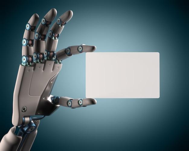 Leere karte roboter Premium Fotos