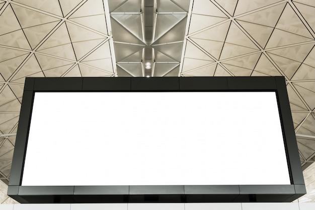 Leere led-bildschirmkastenanschlagtafel am flughafen oder am einkaufszentrum Premium Fotos
